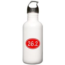 Red 26.2 Oval Water Bottle