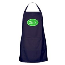 Lime 26.2 Oval Apron (dark)