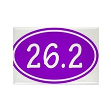 Purple 26.2 Oval Magnets