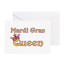 Mardi Gras Queen Greeting Cards (Pk of 10)