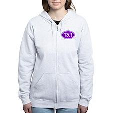 Purple 13.1 Oval Zip Hoodie