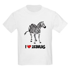 I Love Zebras Kids T-Shirt