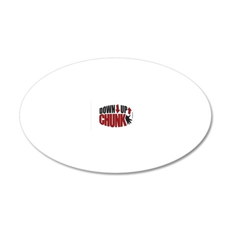 Down Up Chunk Ukulele 5x3 ov 20x12 Oval Wall Decal