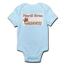 Mardi Gras Queen Infant Bodysuit
