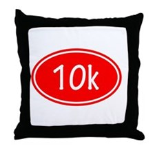 Red 10k Oval Throw Pillow
