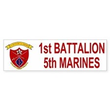 1st Bn 5th Marines<BR>Bumpersticker 2