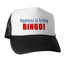 Happiness Is Yelling Bingo Mug Trucker Hat