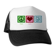 peaceloveGHwh Trucker Hat