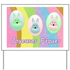Bunny Eggs- french Yard Sign