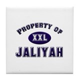 Property of jaliyah Tile Coaster