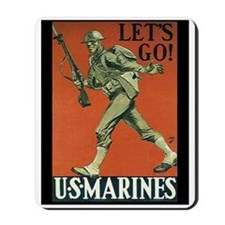 """WWI Marines"" Mousepad"