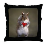 Cute Squirrel Lover's Throw Pillow