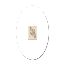 Silky_Terrier_Kline 20x12 Oval Wall Decal