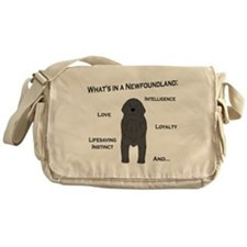 Whats in a Newf - Gray Messenger Bag