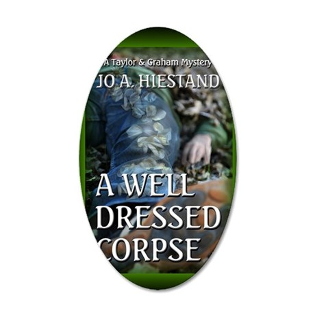 A Well Dressed Corpse mouse  35x21 Oval Wall Decal