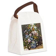 Bouquet of Spring Flowers Canvas Lunch Bag
