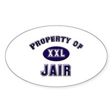 Property of jair Oval Decal