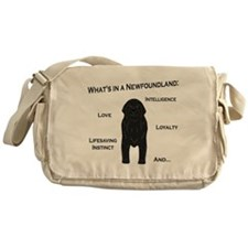 Whats in a Newf - Black Messenger Bag