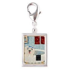bullock bathtub_11x11_framed Silver Portrait Charm
