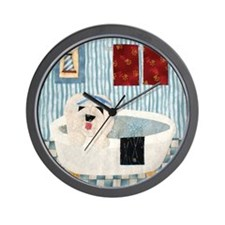 bullock bathtub_11x11_framed Wall Clock