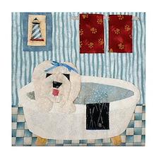 bullock bathtub_11x11_framed Tile Coaster