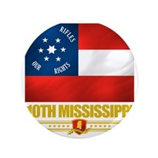 "10th Mississippi Infantry (Flag 10) 3.5"" Button"