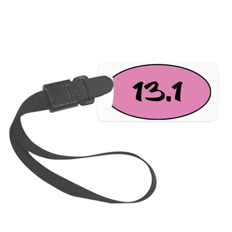 13.1 pink circle Small Luggage Tag