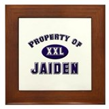 Property of jaiden Framed Tile