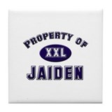 Property of jaiden Tile Coaster