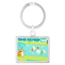 thank you coach,swimming Landscape Keychain