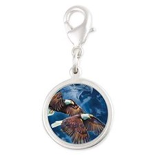 ip000662_1eagles3333 Silver Round Charm