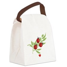 Lucky Bugs on Leaf Japan 2 Canvas Lunch Bag