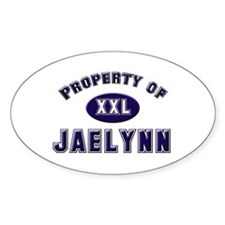 Property of jaelynn Oval Decal