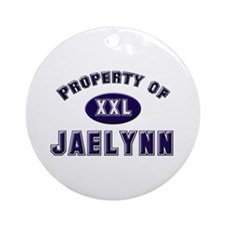 Property of jaelynn Ornament (Round)