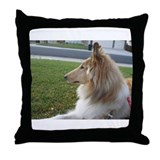Collie Profile Throw Pillow