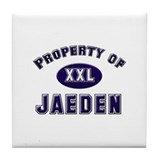 Property of jaeden Tile Coaster
