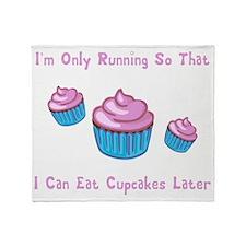 Running Cupcakes BS Throw Blanket