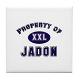 Property of jadon Tile Coaster