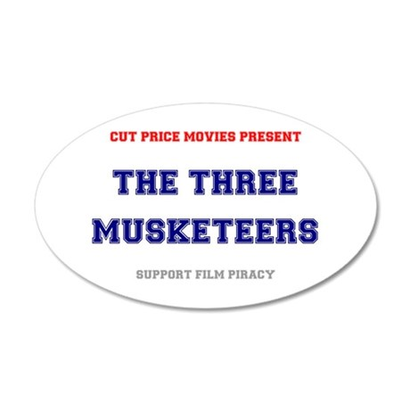 CUT PRICE MOVIES - THE THREE 35x21 Oval Wall Decal