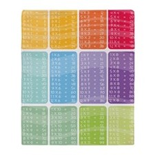 times table multiplication rainbow v Throw Blanket