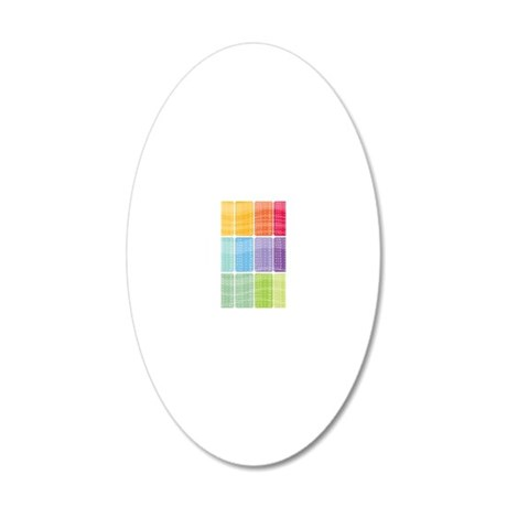 times table multiplication r 20x12 Oval Wall Decal