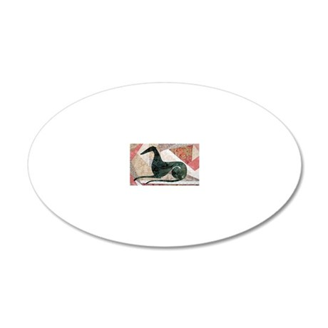 final dewey image as license 20x12 Oval Wall Decal