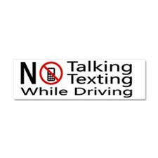 notalking_notexting Car Magnet 10 x 3