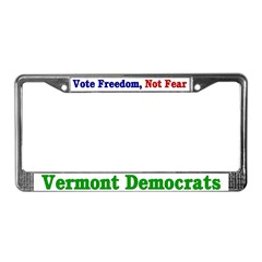 Vermont Democrat License Plate Frame