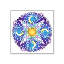 "Celestial Mandala Square Sticker 3"" x 3"""