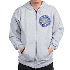 Celestial Mandala Zip Hoodie