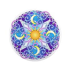 "Celestial Mandala 3.5"" Button"