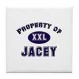 Property of jacey Tile Coaster