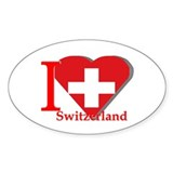 I love Switzerland Oval Decal