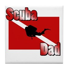 Scuba Dad Tile Coaster